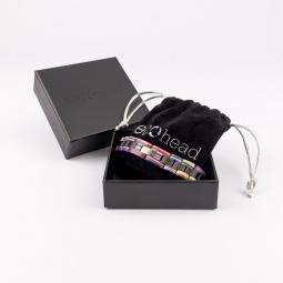 Náramok na ruku - Ebony Rainbow s krabičkou
